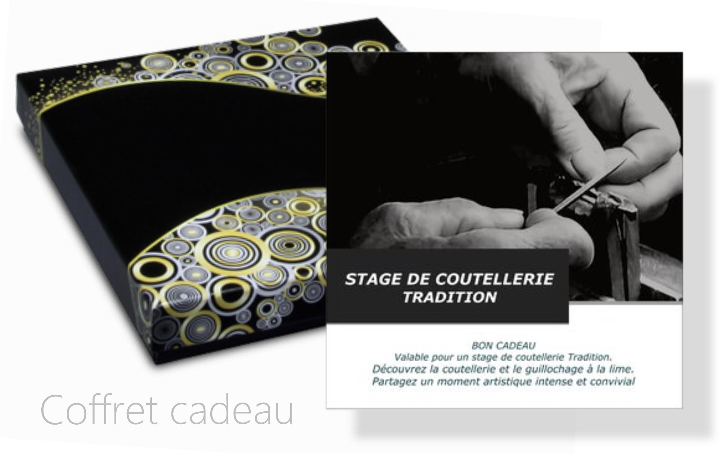 Coffret cadeau stage coutellerie tradition Lacaze christophe
