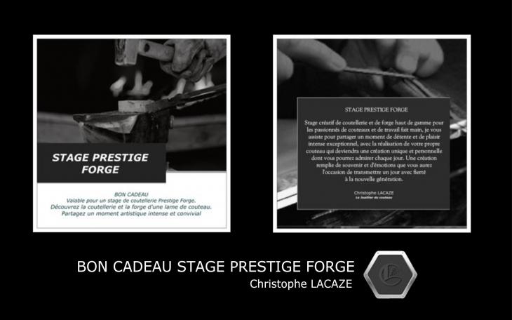 BON CADEAU STAGE COUTELLERIE PRESTIGE FORGE 3 JOURS AVEC HÉBERGEMENT 3 NUITS